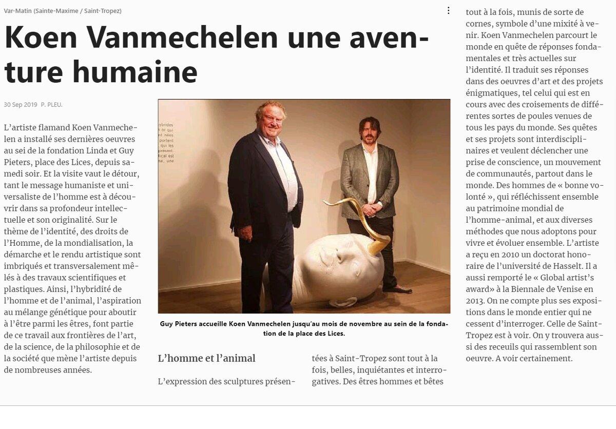 Koen Vanmechelen, Une Aventure Humaine